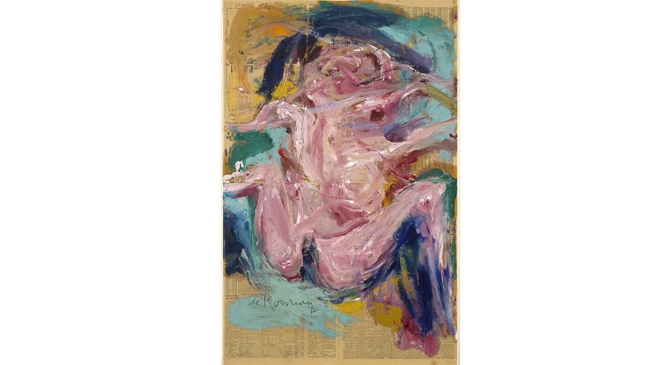 Willem de Kooning: «Untitled» (Olje på avispapir på lerret. 1972)
