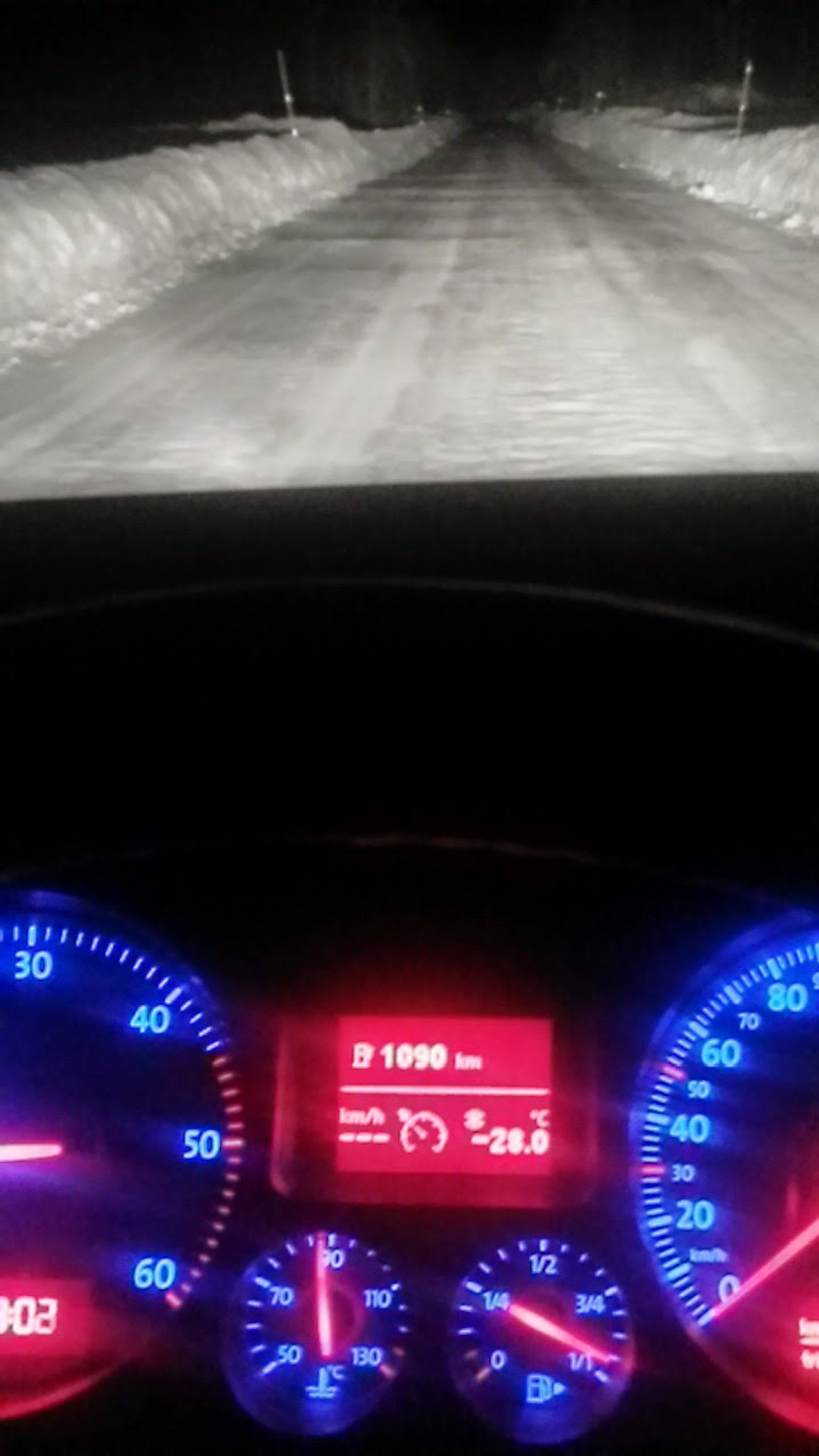1. juledag klokka 19.00 var det -28 grader på Hesjevoll i Jostedal