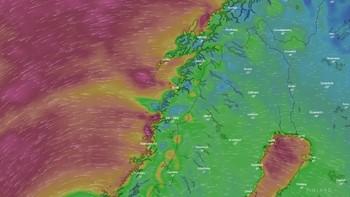 Grafikk fra windy.com