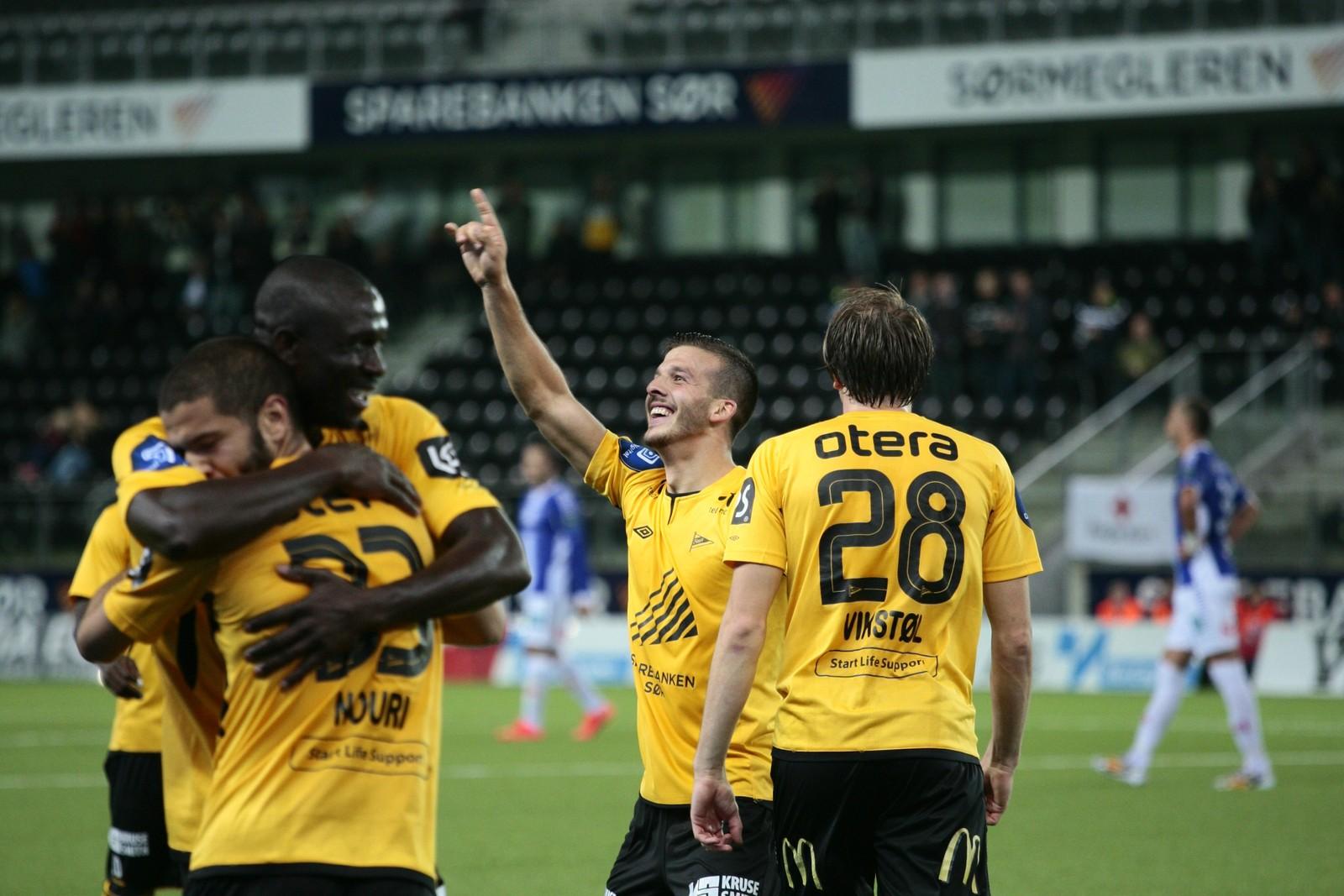 Tripic jublar for scoring mot Sarpsborg 08.