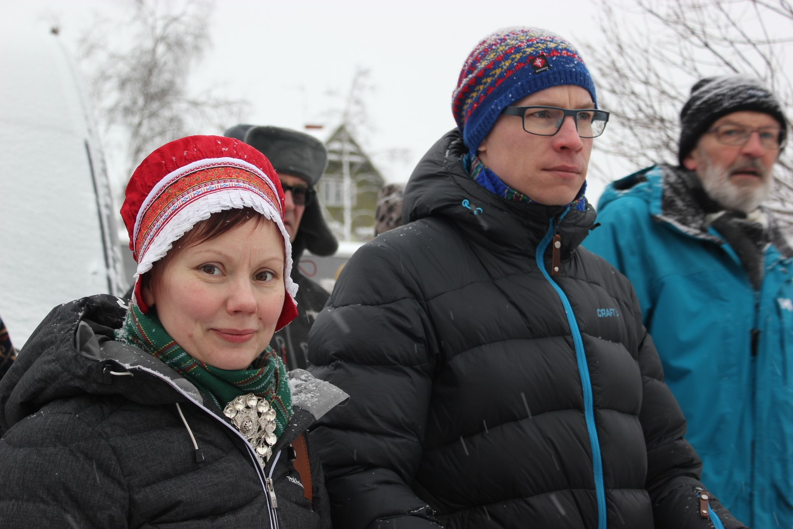 Hanna Sofie Utsi og Mattias Berglund under fellesarrangementet i Jokkmokk.