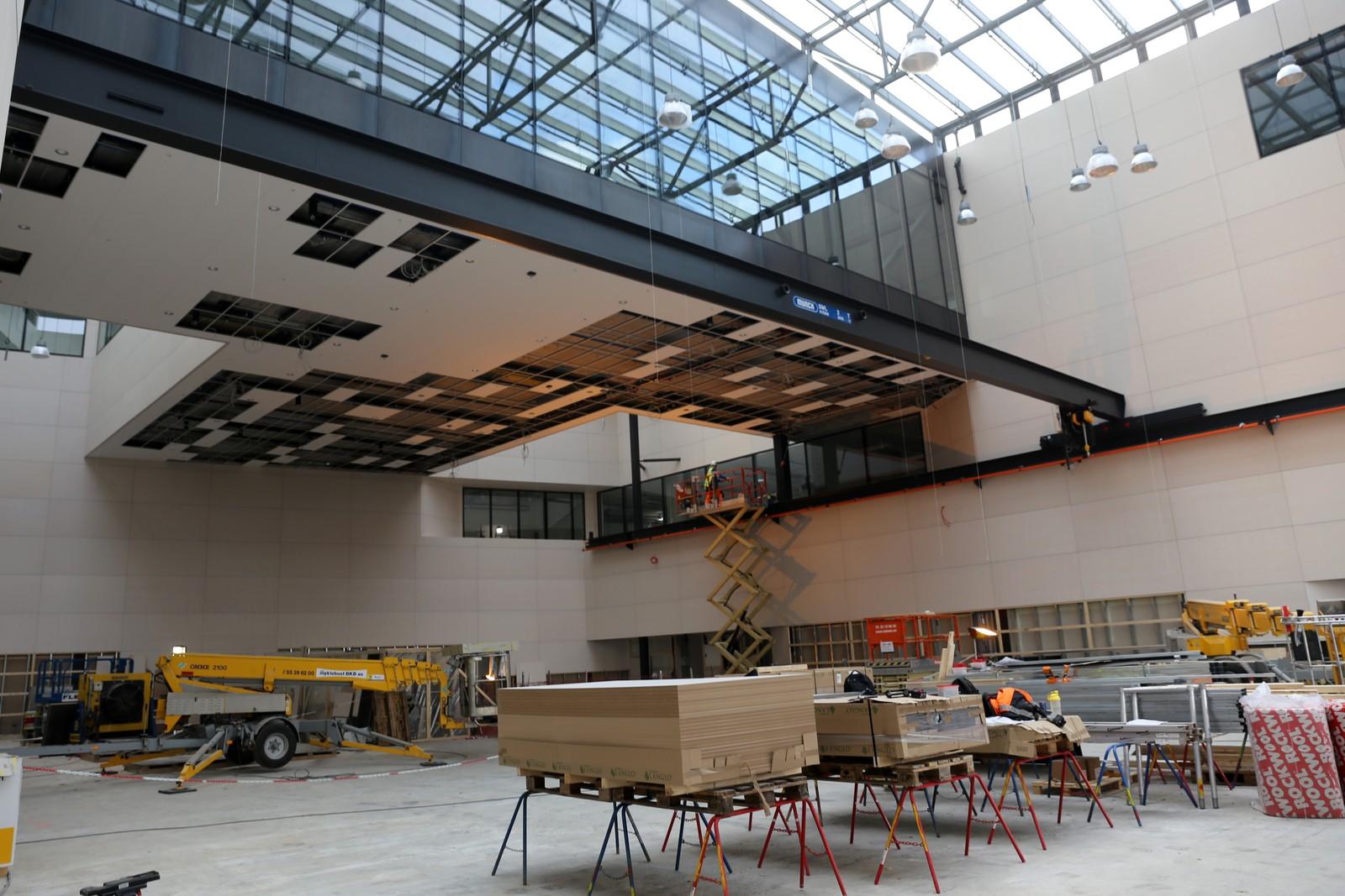 Hovedrommet i det nye bygget.