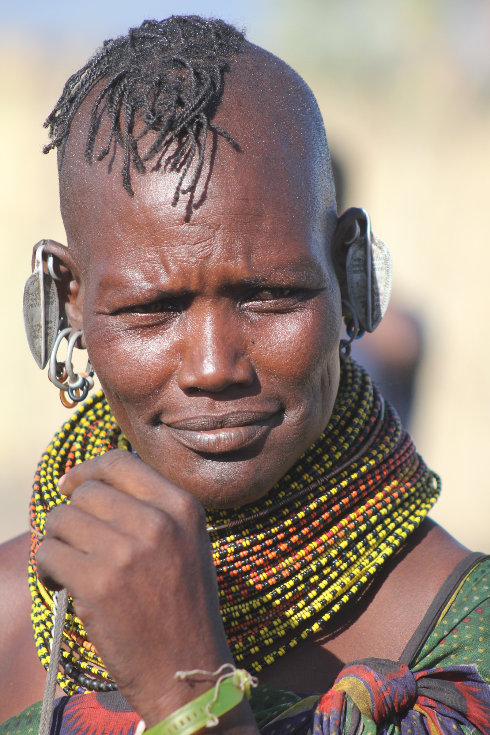 Kvinne fra Turkana-stammen.
