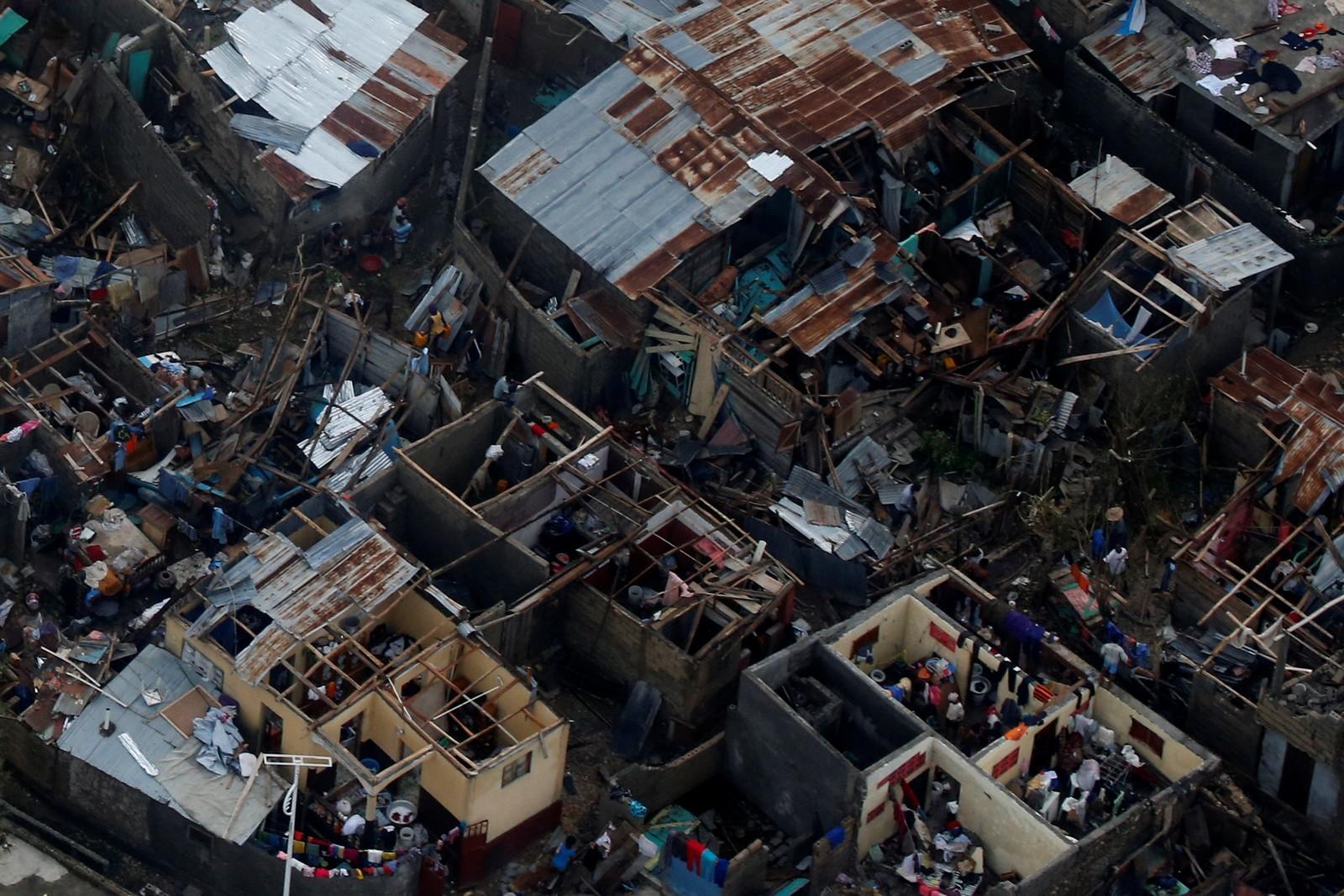 Mange av husene i byen var små skur som vinden fikk godt tak i.
