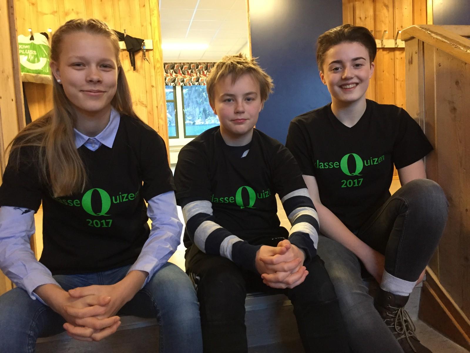 Jorid Skogen Vorkinn, Halvor Gården Sveen og Eirin Berg Lillebråten fra Vågå ungdomsskule fikk åtte rette,