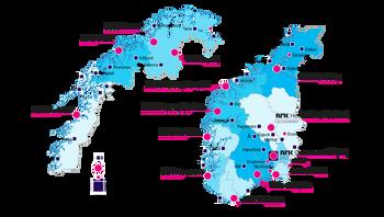 NRK landet rundt (pr aug 2014)