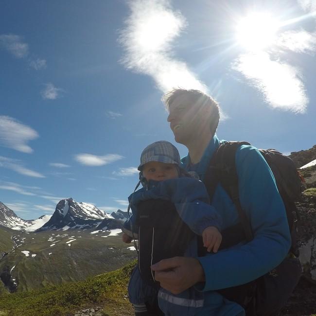 Jakob 6 mnd og pappa på tur i Jotunheimen