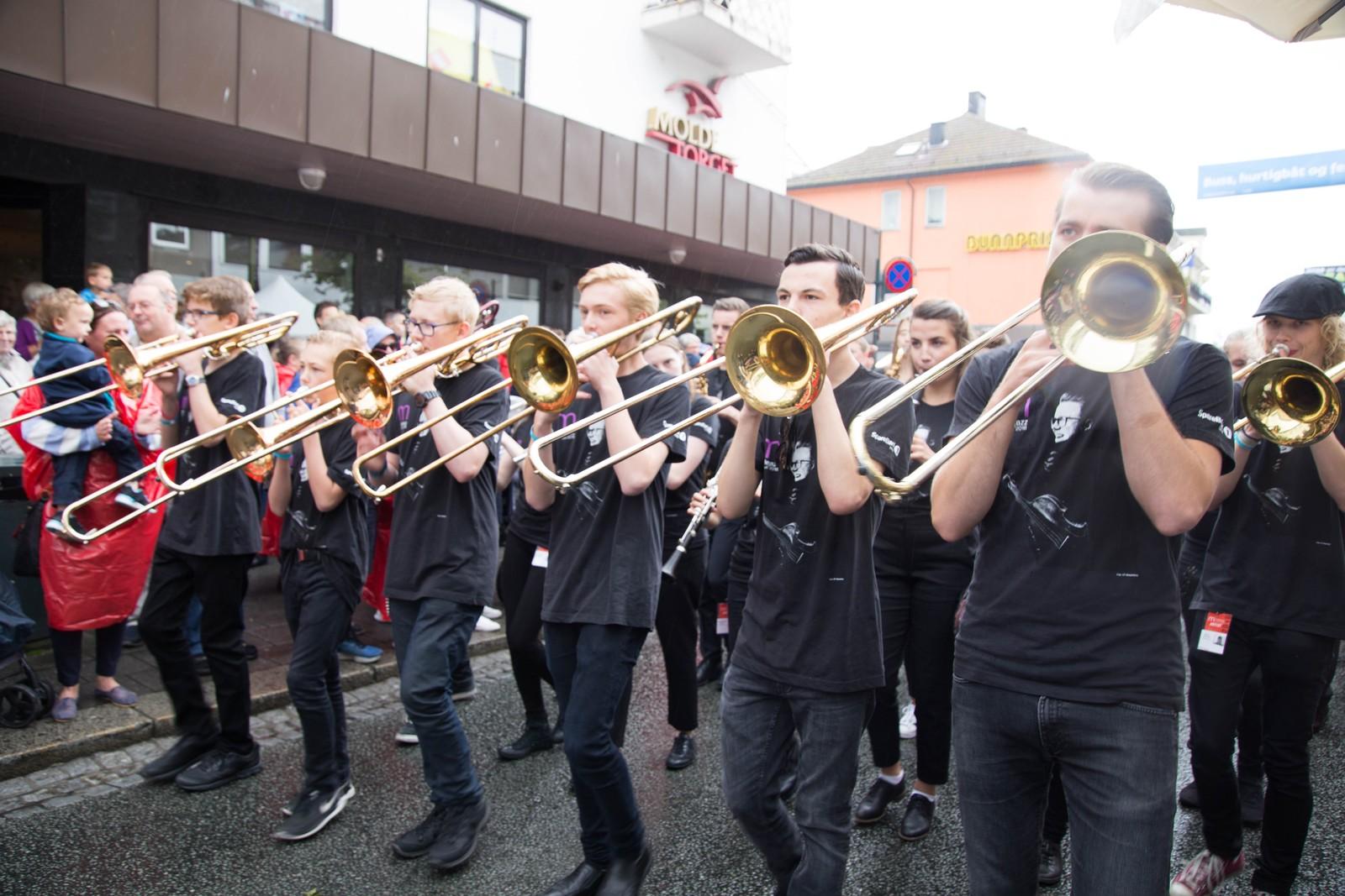 Orntlig trøkk i trombonerekka i år.