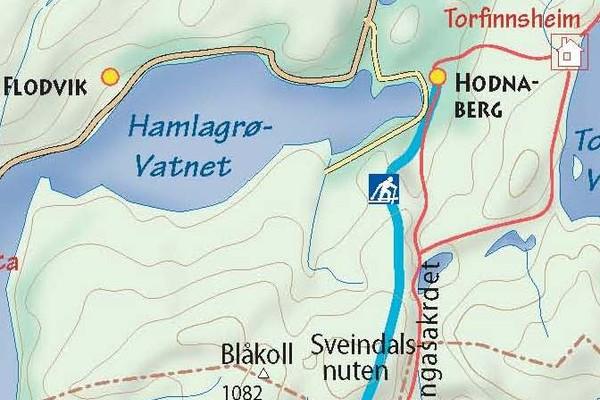 Anbefalt vintervei til Kiellandbu - Foto: Fotograf Uten Navn