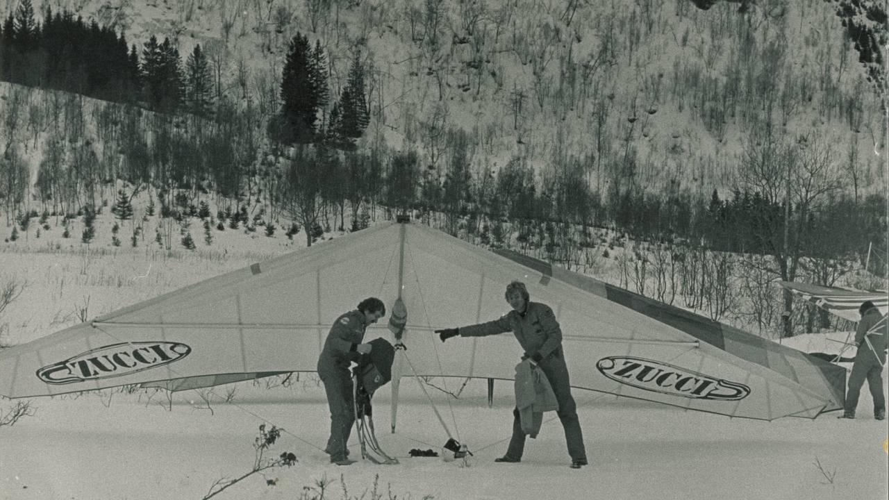 Hangliderpiloter på 70-tallet