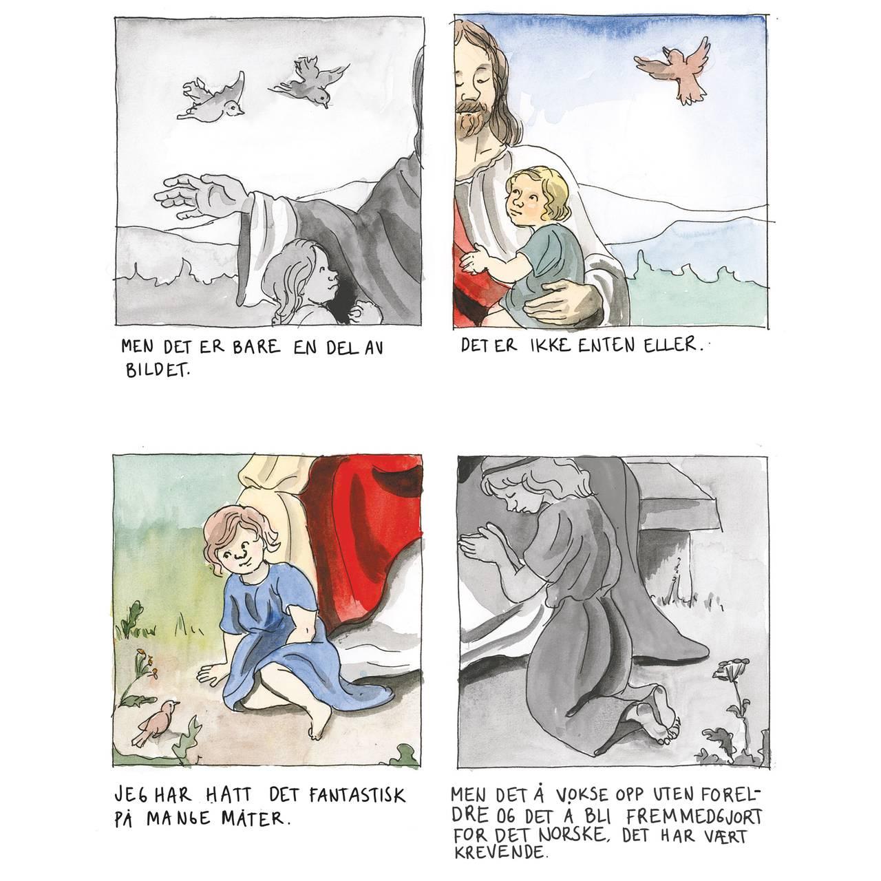 Illustrasjon i tegneserieboken