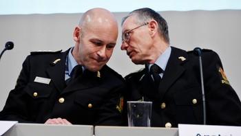 Politidirektør Øystein Mæland (t.v.) og Anstein Gjengedal