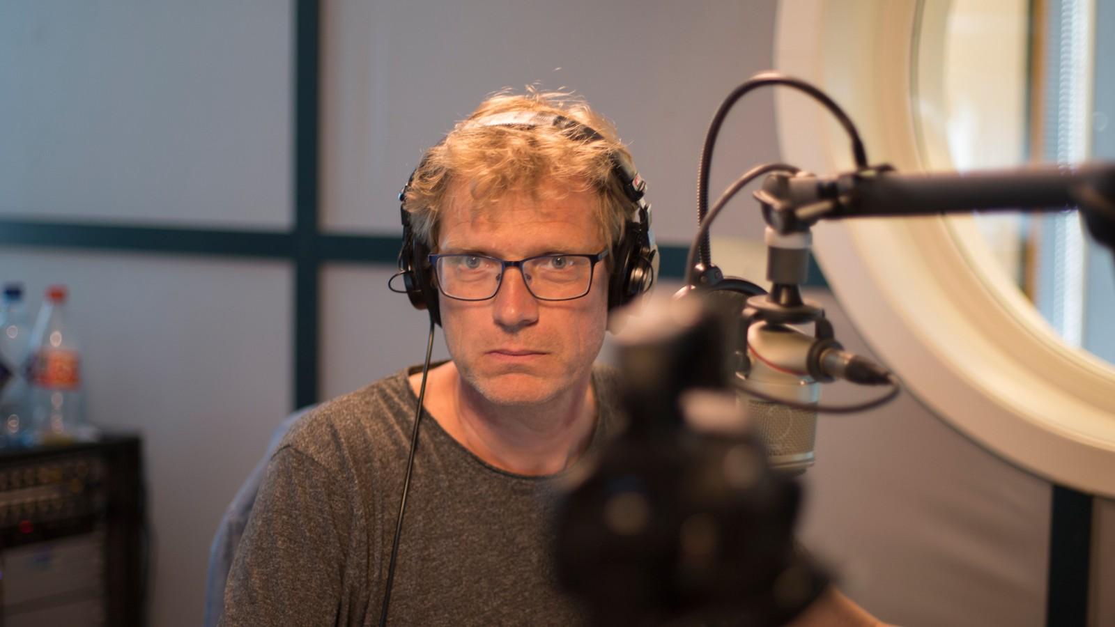 Øystein Ellingsen i NRK Rogaland, etter å ha sendt 23 timer radio i ett strekk. 21. juni.