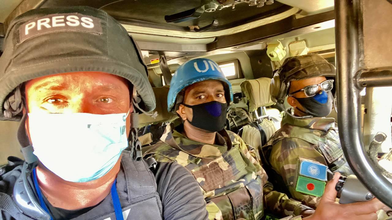 FN-patrulje i Gao i det nordøstlige Mali.