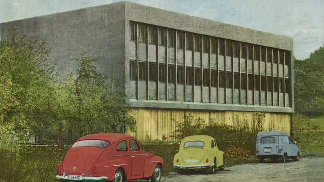 Sogndal Sparebank sitt nybygg i 1966.