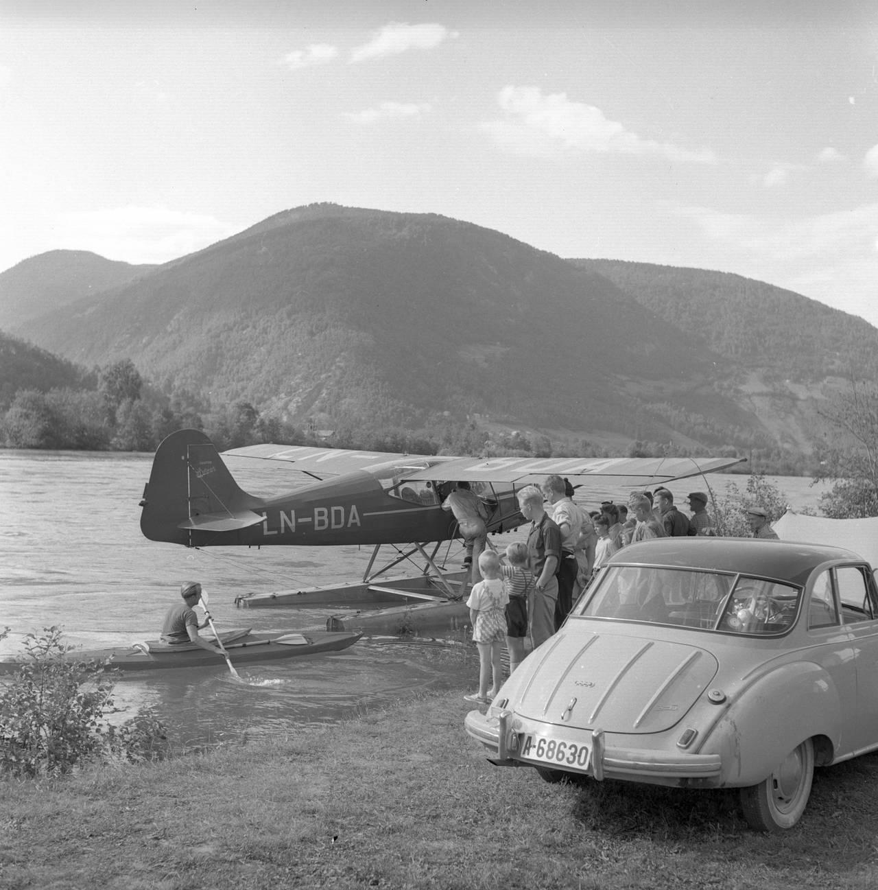Campingliv på Otta, 1955.