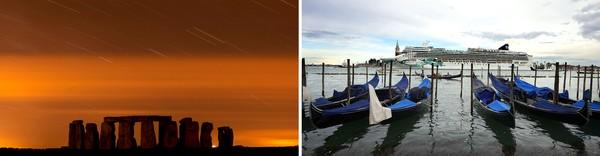Stonehenge, Venezia, Galápagos og Liberty Island