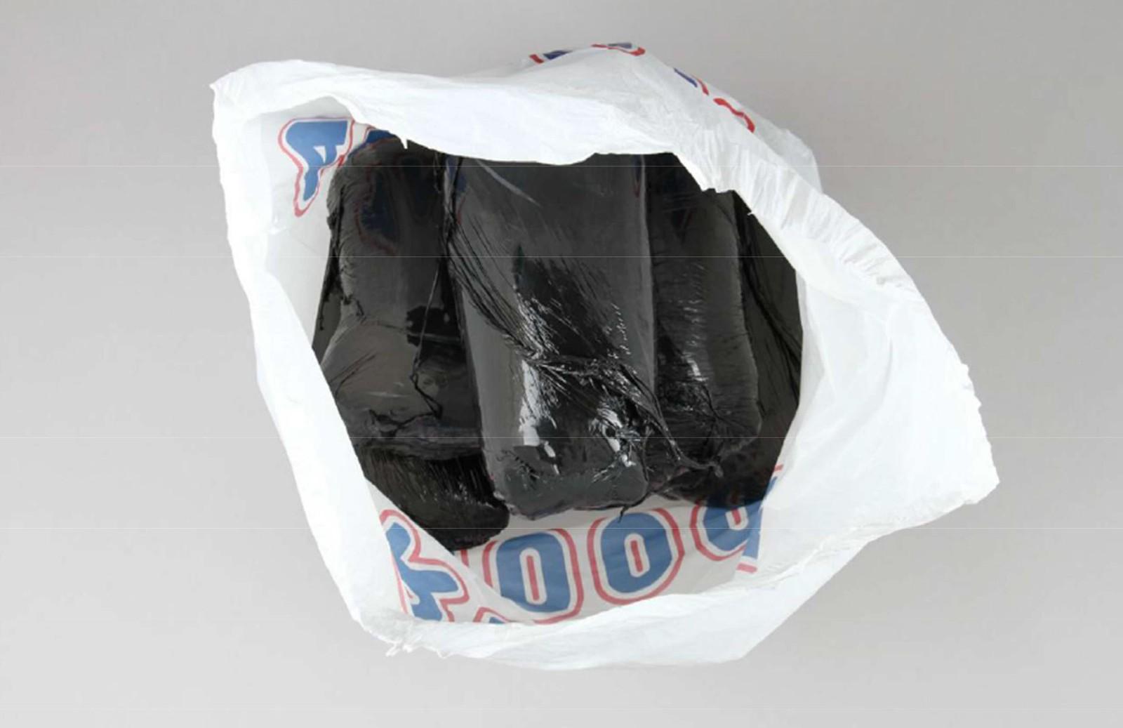 Narkobeslag i plastpose.