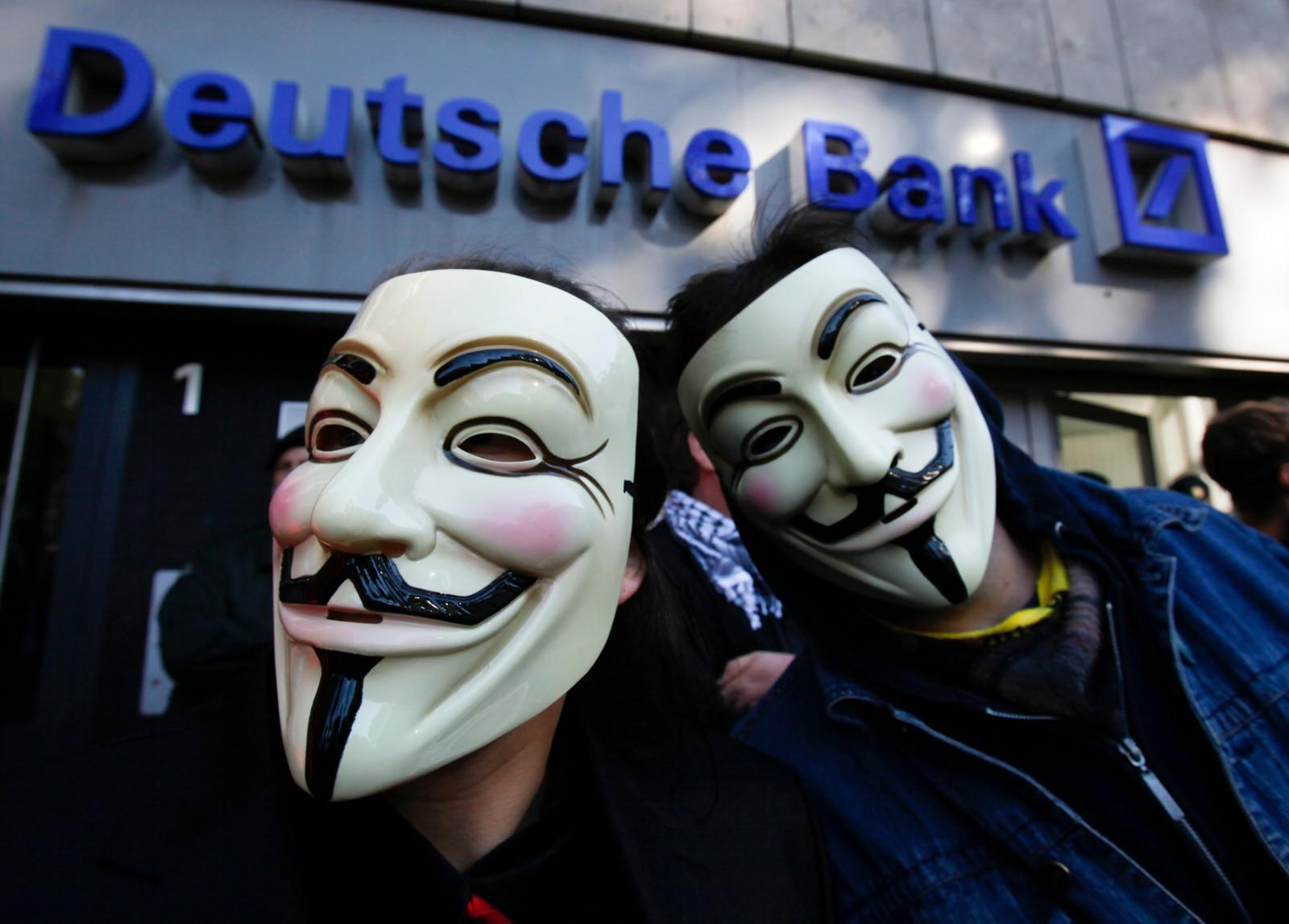 Demonstrasjon i Cologne mot 'Deutsche Bank' i 2011.