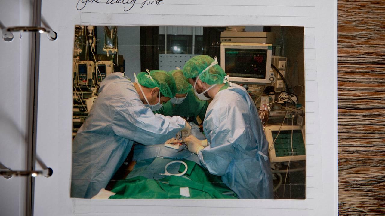 Roy Wathne på sykehus