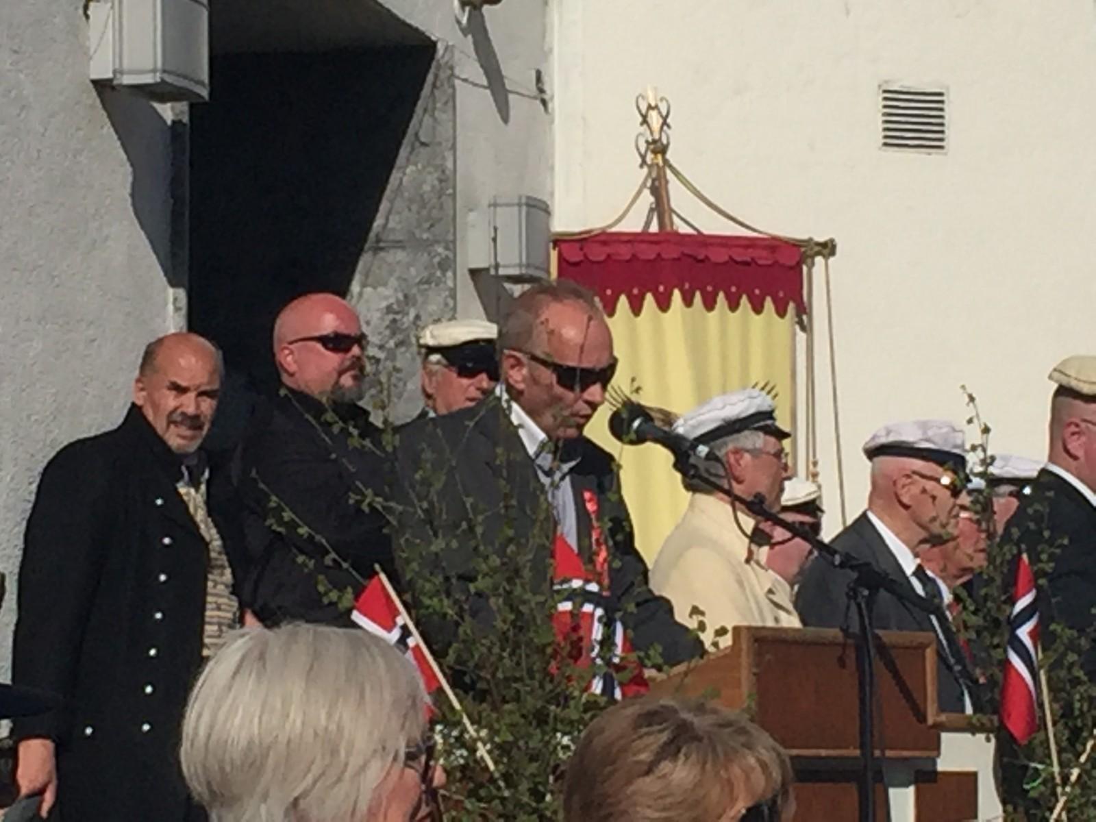 Den nypensjonerte bygartneren i Steinkjer, Finn Rossing, holdt 17.mai-talen i Steinkjer.