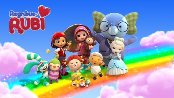 Canadisk animasjonsserie om Rubi som hver dag reiser, på magisk vis, til Regnbuebyen der alle lekene hennes lever og bor.
