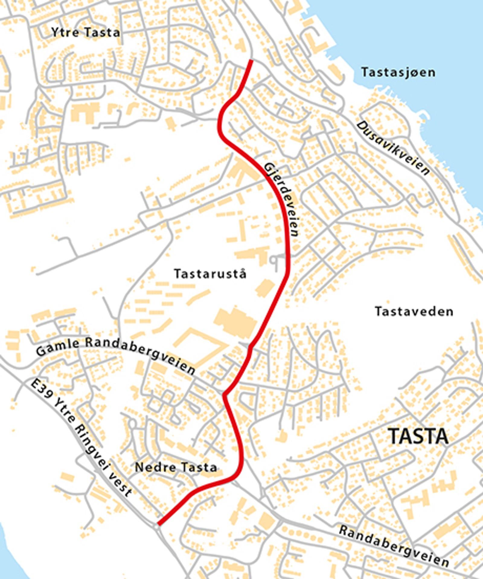 Randabergveien, Gjerdeveien, Gabbroveien (Fv412), natt til tirsdag 12. mai eller natt til onsdag 13. mai.