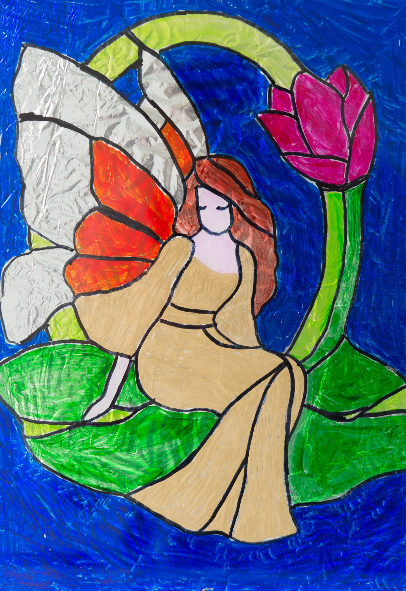 Jente i gullkjole - Natthida Noijan, Flora