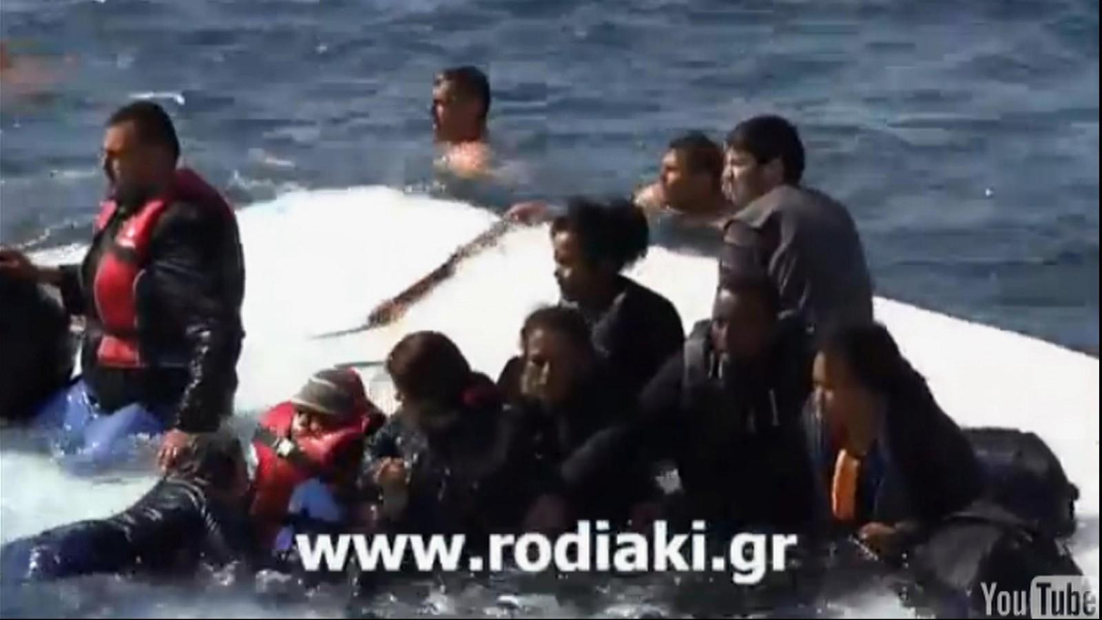 Greske båtflyktninger på Rhodos 20. april 2015