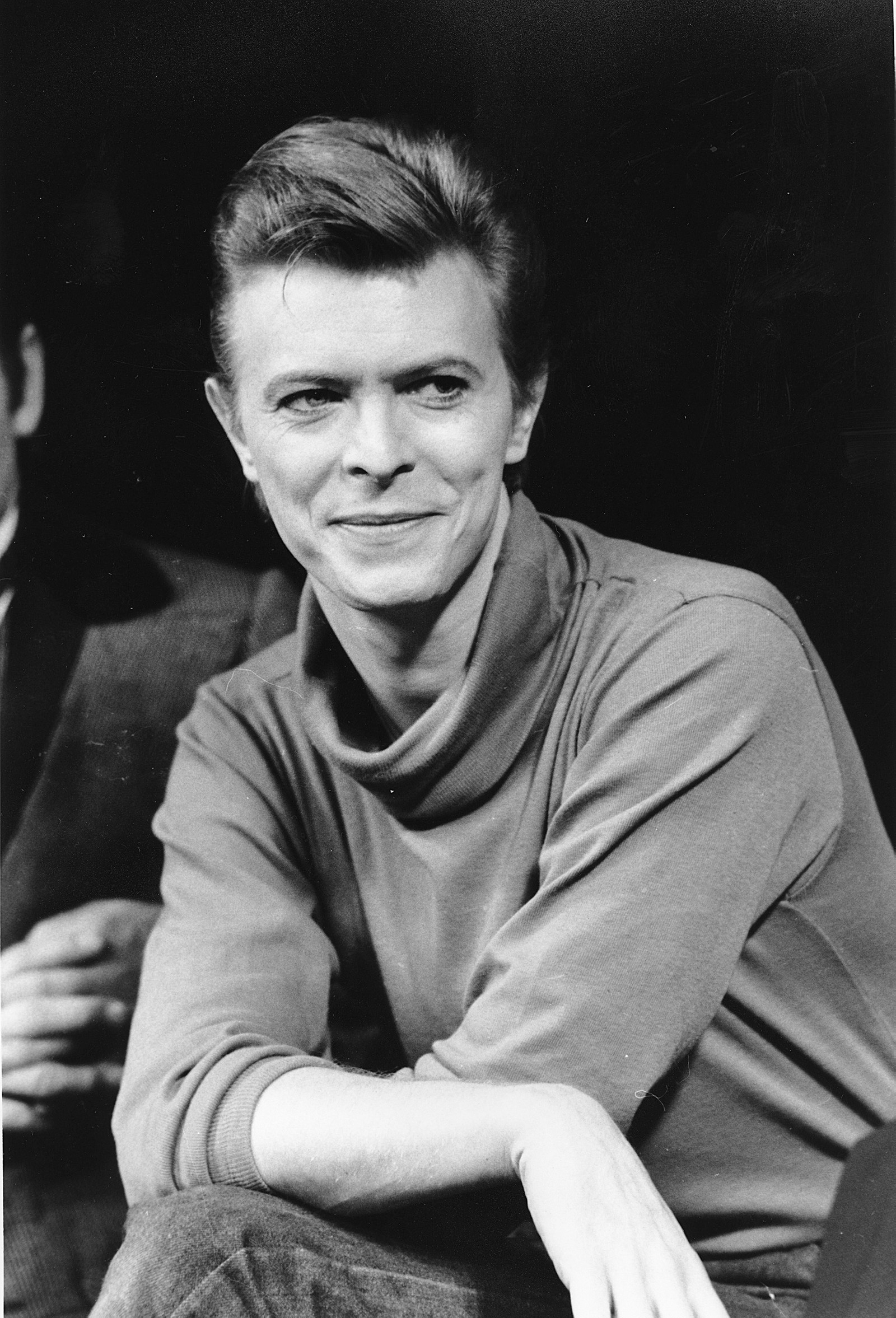 David Bowie etter en sceneprøve i Booth Theater i New York i september 1980.