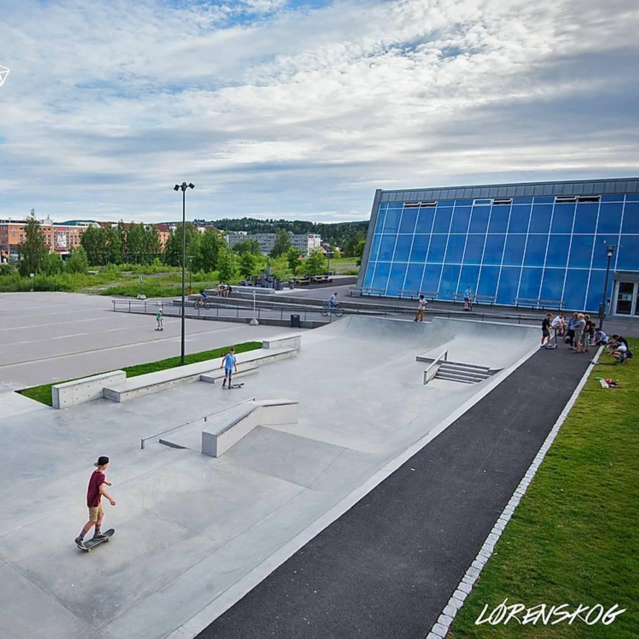 En stor skatepark i Lørenskog
