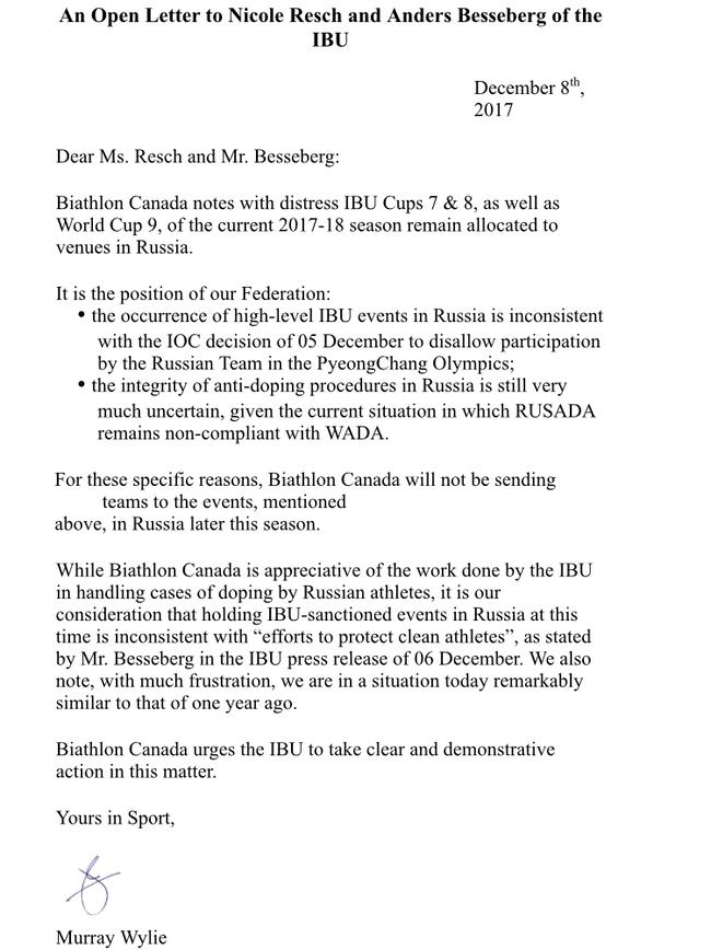 «Это не бойкот, а болтовня». Сборную Канады по биатлону ждут в Тюмени