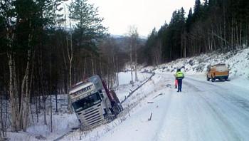 Vogntog av veien i Saltdal