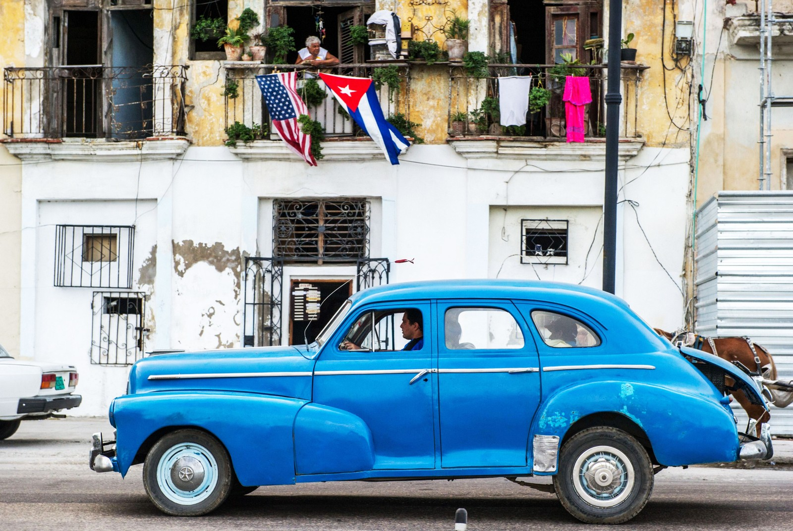 Amerikansk 50-tallsbil i Havannas gater 19. desember i år.
