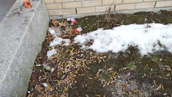 Sigarettsneiper utenfor St. Olavs Hospital