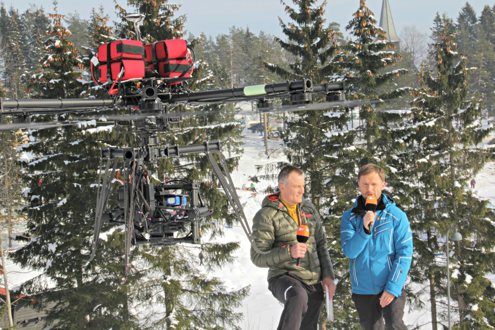 The NRK Host Broadcaster drone crew on an assignment for German TV.