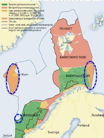Olje og gassområder