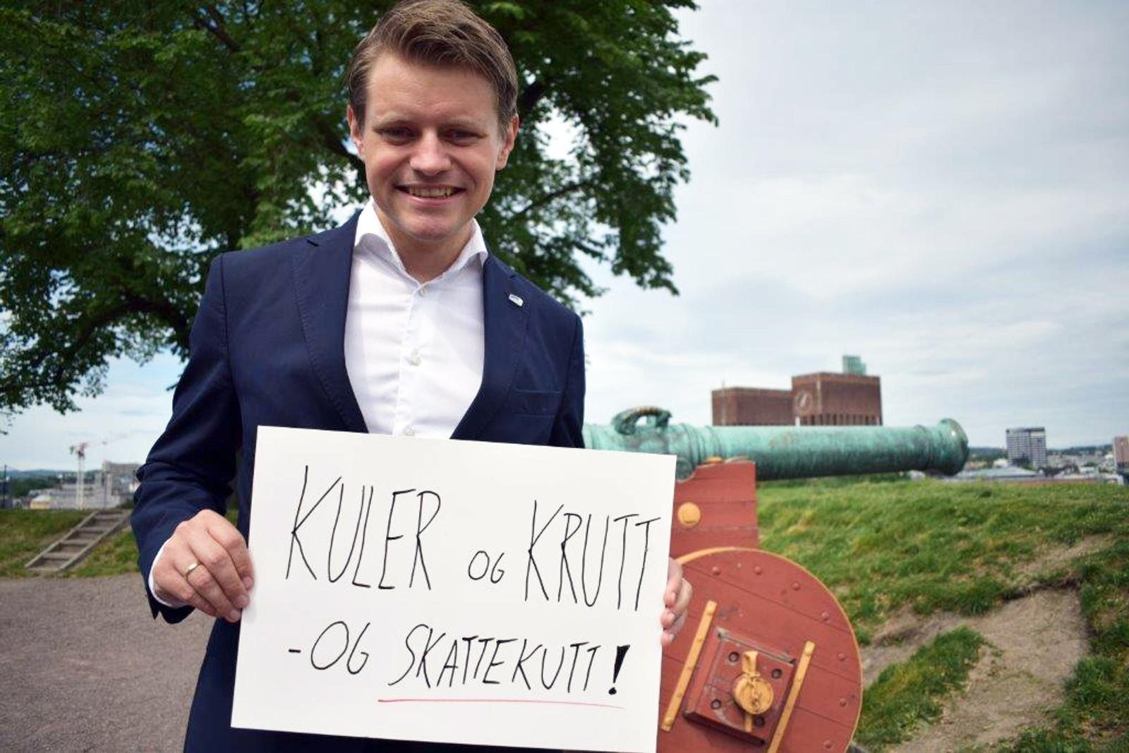 PETER CHRISTIAN FRØLICH (H): «Kuler og krutt - og skattekutt».