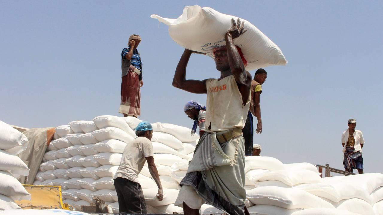 Matutdeling i  Aslam i Jemen.