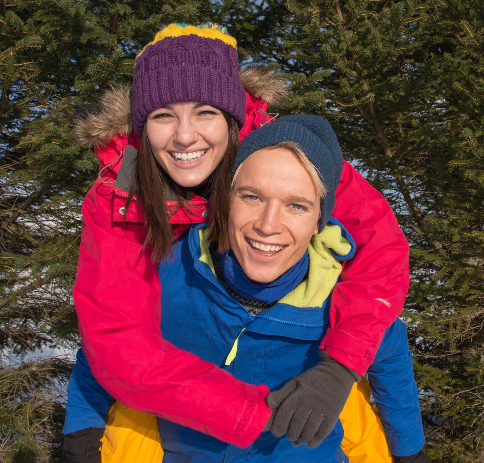 Selda og Christer, programledere i Påskemorgen.