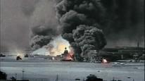 Japan bomber den amerikanske marinebasen Pearl Harbor, på Hawaii i Stillehavet, 7.desember 1941.