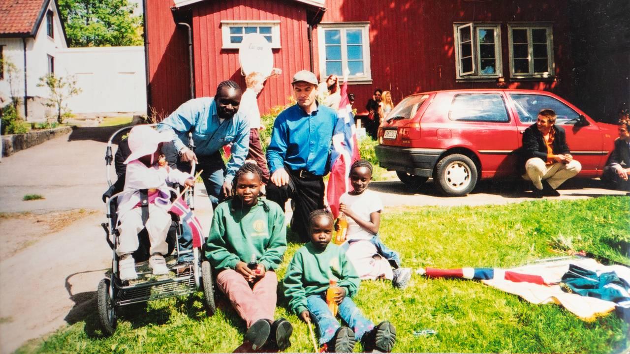 Grace Bullen og familien i Fredrikstad. Arkivbilete til Hodet i klemme.