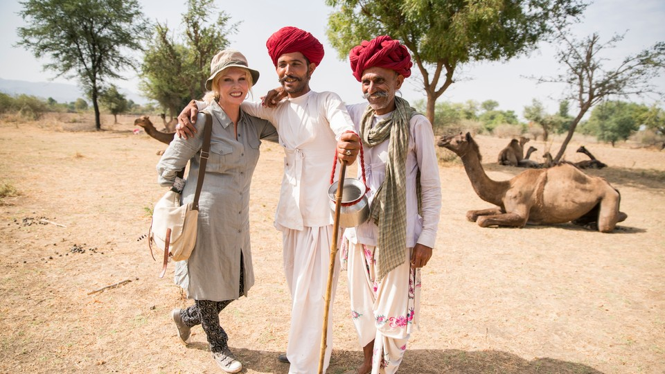 Joanna Lumley i India