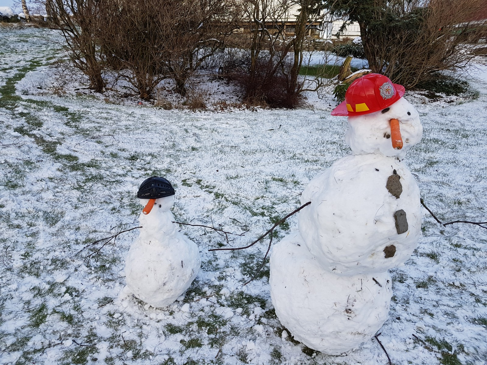 Snømenn fra Ålgård i Gjesdal.