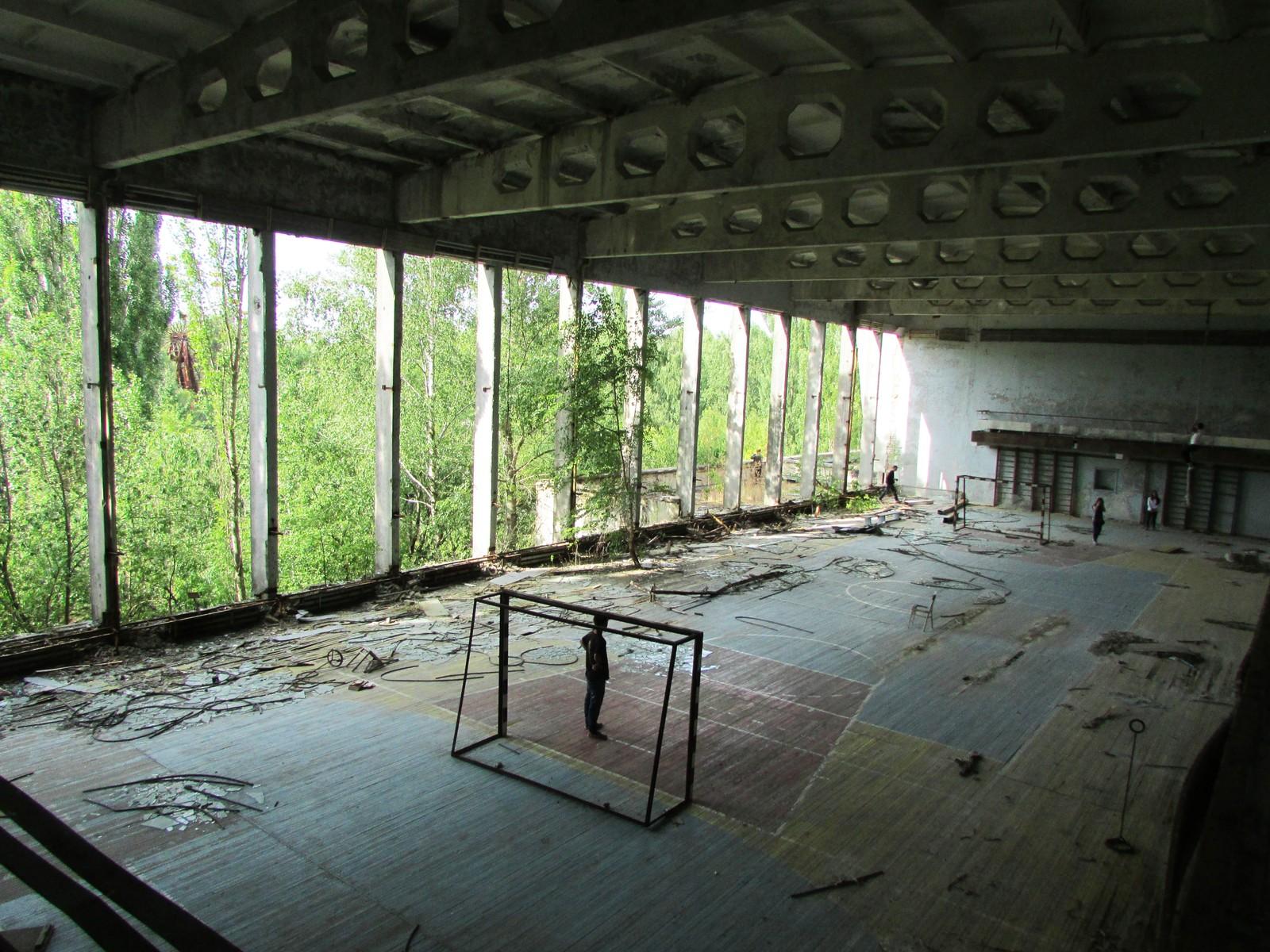 Idrettshallen i kulturpalasset «Energetik». Navnet på bygget er et ordspill omfavnet både «energisk» og «arbeider på kraftverk».