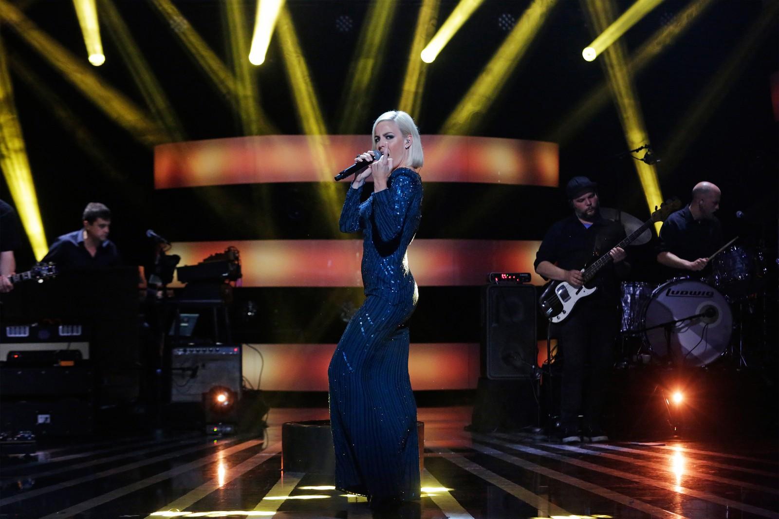 Musikk fra The Supremes var det Nicoline Berg Kaasin tok med seg til scena.