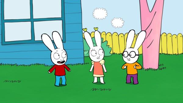 Fransk animasjonsserie. Jeg er sjefen. Simon vil være sjefen når barna leker, til stor irritasjon for Ferdinand og Ruth.