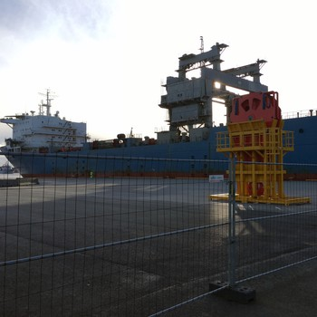 Lasteskipet har ankommet Tysvær