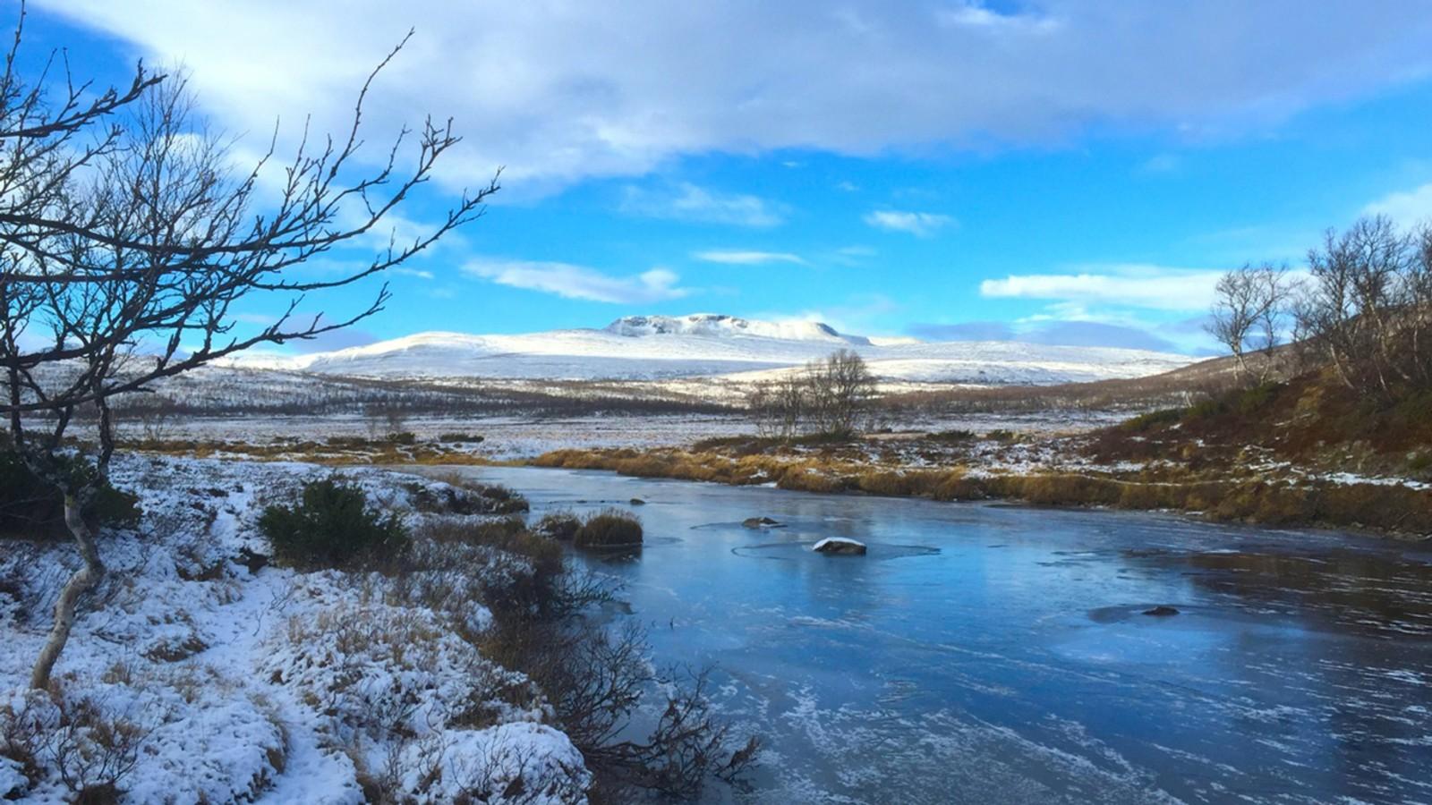Is på Minilla i Trollheimen