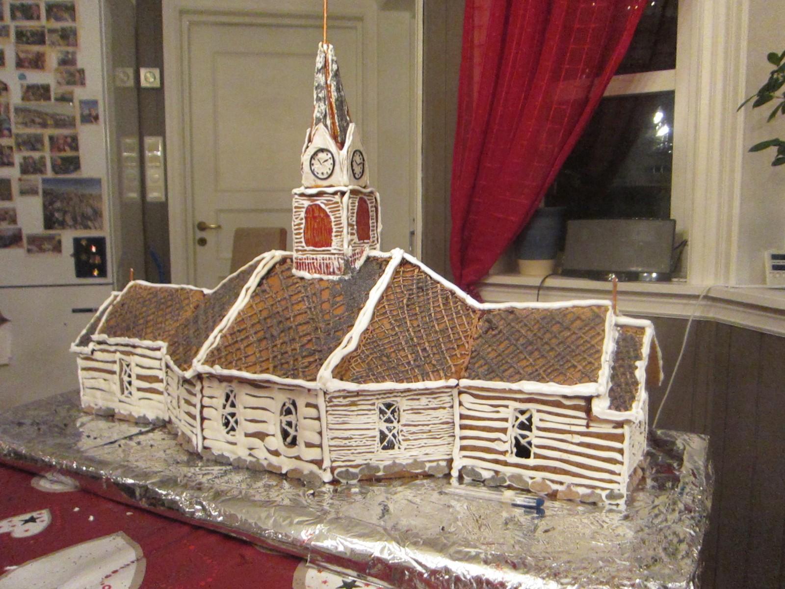 Ei jul var det Ulstein kyrkje som vart pepperkakehus.